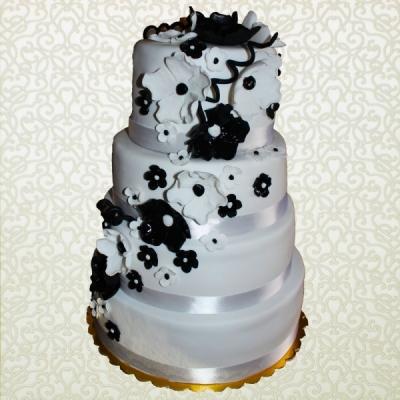 fekete fehér esküvői torta Anyám Lánya Tortaműhely   Esküvői torták   Fekete fehér menyasszonyi fekete fehér esküvői torta
